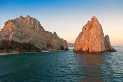 Land's End in Cabo San Lucas, Mexico. The natural arch and rock formation at Land's End, in Cabo San Lucas, Mexico Royalty Free Stock Photos