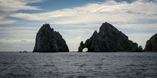 Land's End in Cabo San Lucas, Mexico. A contrasty photo of the Land's End rock arch in Cabo San Lucas, Mexico Royalty Free Stock Photo