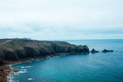 Land's End in Cornwall, England Royalty Free Stock Photo