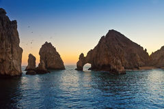 Land's End dans Cabo San Lucas images stock