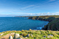 Land`s End England UK view towards Cape Cornwall and Sennen Cove Royalty Free Stock Image