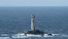 Land's end lighthouse. The lighthouse at Land's End in Cornwall Stock Photos