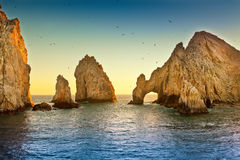 Land's End. Natural rock formation at Land's End, in Cabo San Lucas, Mexico stock photos