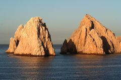 Land's End Rock Pair. Land's End, rock formation in Cabo San Lucas Mexico Royalty Free Stock Image