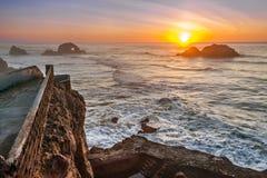 Land's End-Sonnenuntergang Lizenzfreies Stockfoto