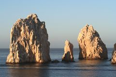 Land's End Three Pillars. Land's End, rock formation in Cabo San Lucas Mexico Stock Photo