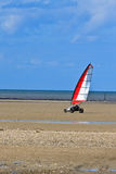 Land sailing on the a beach Stock Photography
