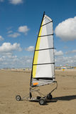 Land sailing on the beach Stock Photo