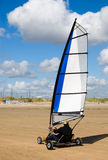 Land sailing on the beach Royalty Free Stock Photo