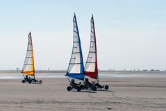 Land sailing on the beach in summer Royalty Free Stock Photography