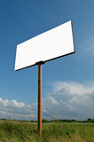 Land for sale. An empty banner on a rural landscape royalty free stock photo