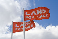 Land For Sale Flags Stock Photography