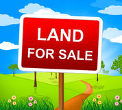 Land For Sale Means On Market And Purchase Royalty Free Stock Images