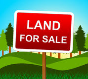 Land For Sale Means Real Estate Agent And House Royalty Free Stock Photography