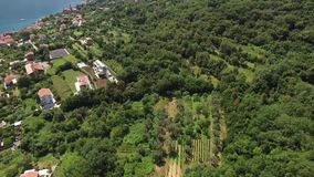 Land for sale in Montenegro. Hotel by the sea. The town of Prcan stock video