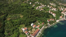 Land for sale in Montenegro. Hotel by the sea. The town of Prcan stock video footage