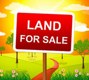 Land For Sale Represents Real Estate Agent And Purchase Royalty Free Stock Photography