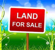 Land For Sale Shows Real Estate Agent And Selling Royalty Free Stock Photo