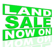 Land Sale Shows At This Time And Clearance Royalty Free Stock Image