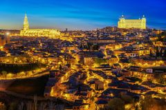 Land scape of Toledo old city Stock Images