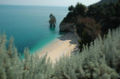 Land and sea and mountains all together here in Gargano National Park. In Southern Italy Royalty Free Stock Photography