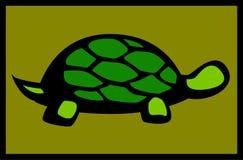 Land or sea turtle vector illustration. Vector illustration of a land or sea turtle Stock Image