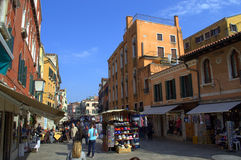 Land shopping street,Venice Royalty Free Stock Image
