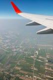 Land and sky as seen through window Royalty Free Stock Photos