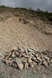 Land slide area - Chin State Area, Myanmar Stock Images