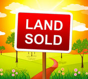 Land Sold Indicates Real Estate Agent And Building Stock Image