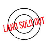 Land Sold Out rubber stamp. Grunge design with dust scratches. Effects can be easily removed for a clean, crisp look. Color is easily changed Stock Photos