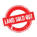 Land Sold Out rubber stamp. Grunge design with dust scratches. Effects can be easily removed for a clean, crisp look. Color is easily changed Stock Photography
