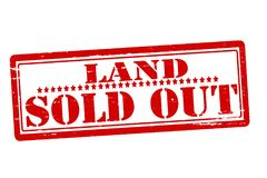 Land sold out. Rubber stamps with text land sold out inside,  illustration Royalty Free Stock Images