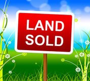 Land Sold Shows Real Estate Agent And Property Stock Photography