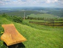 Land som är sceniskt från upp kullen Royaltyfri Fotografi