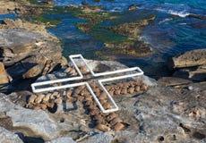 'Land: ställe: platsen 'är ett skulpturalt konstverk av Wendy Teakel på skulpturen vid de årliga händelserna för havet som är fri fotografering för bildbyråer