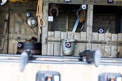 Land-stabile themenorientierte Einzelteile werden mit Stier-Augen-Umbauten markiert Vergnügungspark Arcade Target Shooting durch  lizenzfreies stockbild