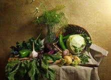 Land-Stillleben mit Gemüse Lizenzfreie Stockfotos
