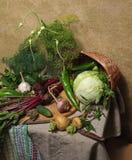 Land-Stillleben mit Gemüse Stockfoto
