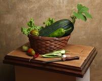 Land-Stillleben mit Gemüse Lizenzfreie Stockfotografie