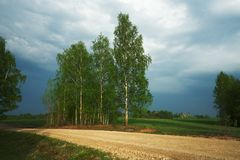 Land-Straße im Herbst stockfoto
