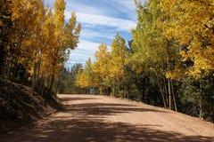 Land-Straße in Kolorado Stockbilder