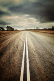 Land-Straße mit einem Instagram-Effekt Lizenzfreies Stockfoto