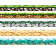 Land surface various types set.Πvector illustration