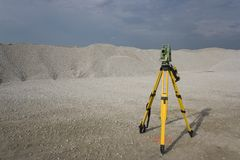 Land Surveying Royalty Free Stock Image