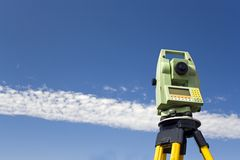 Land Surveying stock image