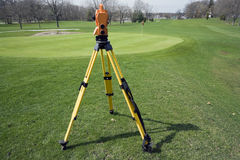 Land surveying the golf course Royalty Free Stock Photos
