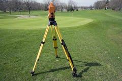 Land surveying the golf course Royalty Free Stock Photos