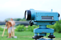 Land surveying instrument Stock Image