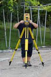 Land surveyor Stock Photo